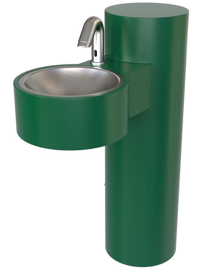 Murdock GWJ85-SO Wash-N-Go ADA Hand Wash Station, Pedestal, Green Finish, Sensor Operated
