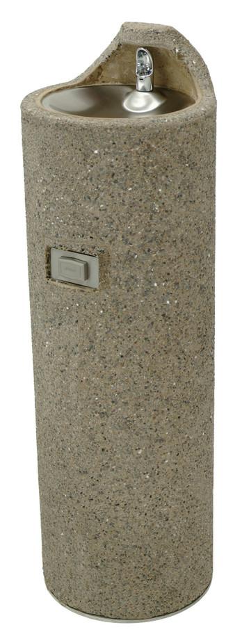 Murdock GUF99 Outdoor Drinking Fountain, Concrete, Pedestal, Push Button, Non-refrigerated