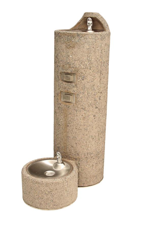 Murdock GUF99-PF Outdoor Drinking Fountain, Concrete, Pedestal, Pet Fountain, Push Button, Non-refrigerated
