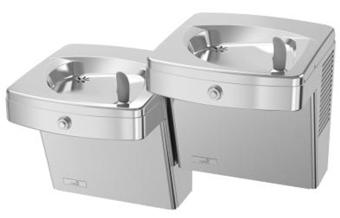 Oasis PGVACSL Split Level Drinking Fountain, Vandal Resistant, ADA, Non-Filtered, Non-Refrigerated, Stainless Steel