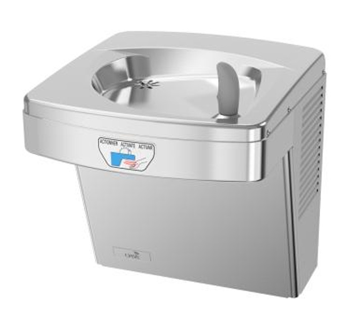Oasis PGACT STN VersaCooler II Contactless Drinking Fountain, Non-Filtered, Non-Refrigerated, Stainless Steel