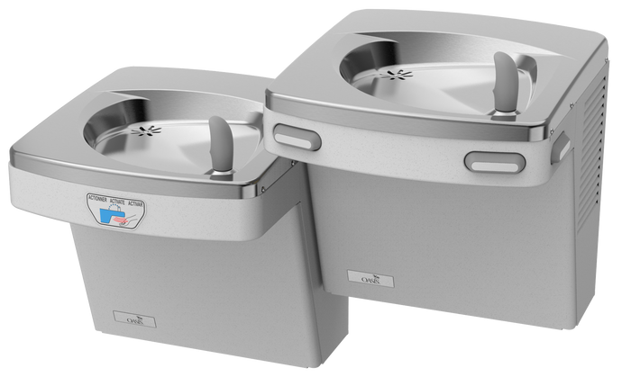 Oasis PGACSLTM VersaCooler II Contactless Drinking Fountain, Hands Free, Bi-Level, Only Low Unit is Sensor Activated, Non-Filtered, Non-Refrigerated