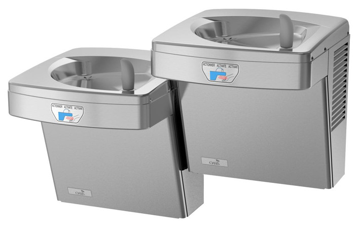 Oasis PGFACSLTT STN VersaCooler II Contactless Drinking Fountain, Sensor Activated, Touch Free, Filtered, Non-Refrigerated, Stainless Steel
