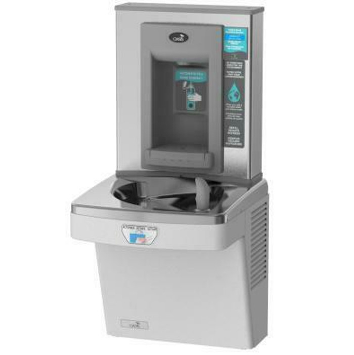 Oasis PGFEBFT STN Contactless Drinking Fountain with Electronic Sports Bottle Filler, Sensor Activated, Touch Free, Filtered, Non-Refrigerated, Stainless Steel