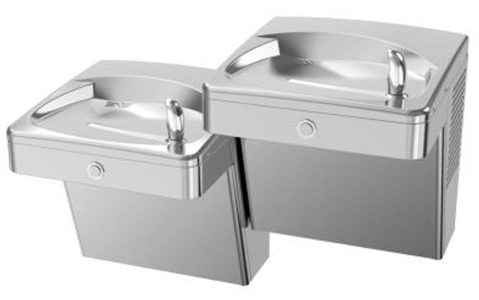 Oasis PVACSL-14G Heavy Duty 14 Gauge Drinking Fountain, Bi-Level, Barrier Free, Vandal Resistant, Non-Filtered, Non-Refrigerated, Stainless Steel