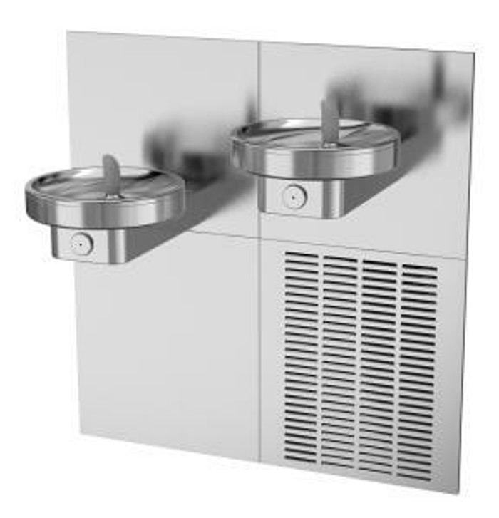Oasis MCR Radii Drinking Fountain, Bi-Level, Front Push Pads, ADA, Non-Refrigerated