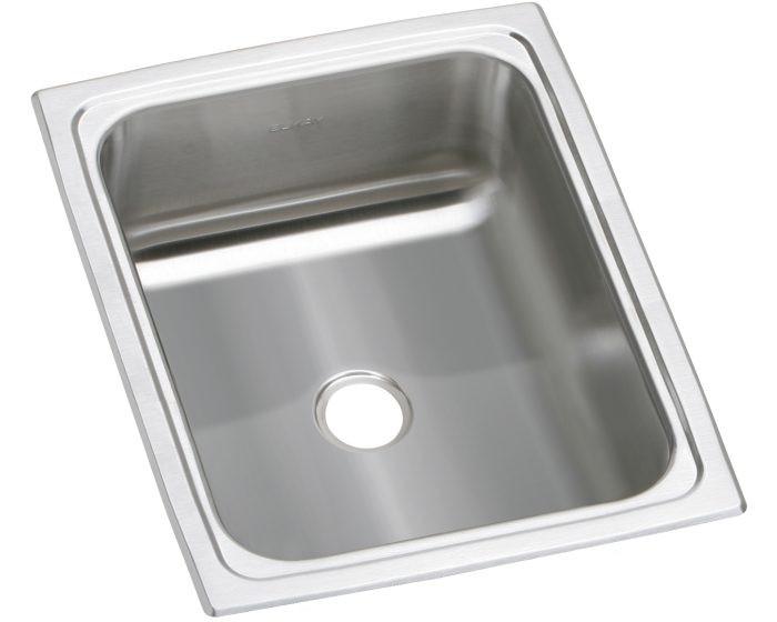"""Elkay BPSFR1215 Celebrity Stainless Steel 12-1/2"""" x 15"""" x 6-1/8"""", Single Bowl Drop-in Bar Sink"""