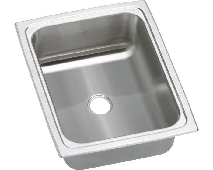 """Elkay BPSFRQ1215 Celebrity Stainless Steel 12-1/2"""" x 15"""" x 6-1/8"""", Single Bowl Drop-in Bar Sink with Quick-clip"""