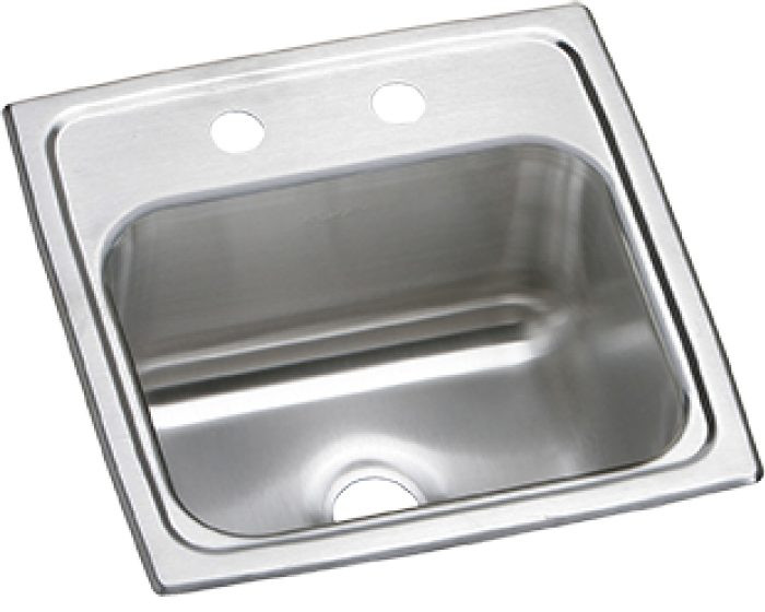 """Elkay BPSRQ15 Celebrity Stainless Steel 15"""" x 15"""" x 6-1/8"""", Single Bowl Drop-in Bar Sink with Quick-clip"""