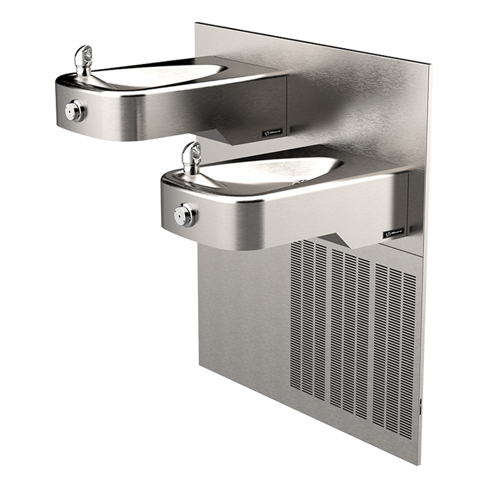 Haws H1117LN.8 Hi-Lo Electric Drinking Fountain, Wall Mount, Low-Profile, ADA, Stainless Steel