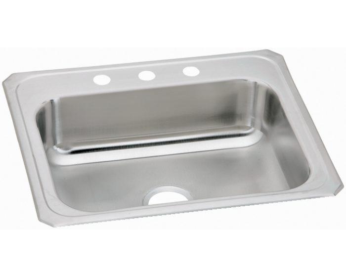 """Elkay CR3122 Celebrity Stainless Steel 31"""" x 22"""" x 6-7/8"""", Single Bowl Drop-in Sink"""