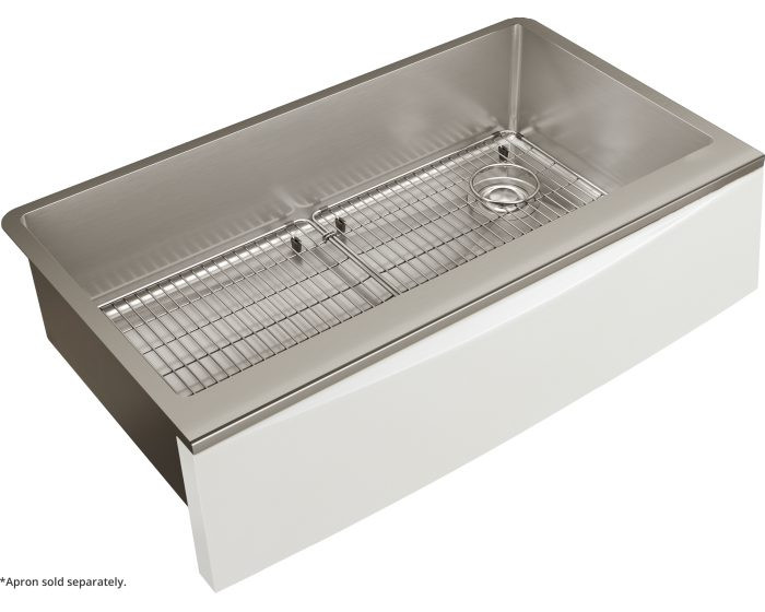 """Elkay CTXF134179RC Crosstown 16 Gauge Stainless Steel 35-7/8"""" x 20-5/16"""" x 9"""" Single Bowl Farmhouse Sink Kit for Interchangeable Apron (Apron Not Included)"""