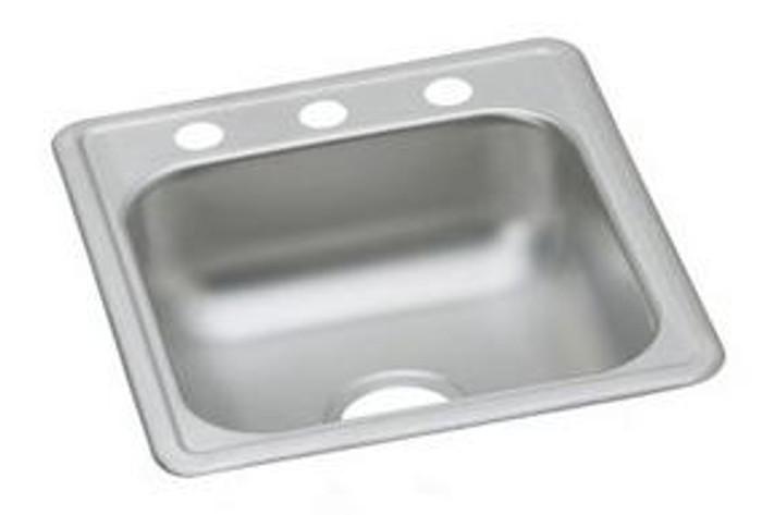 """Elkay D11719 Dayton Stainless Steel 17"""" x 19"""" x 6-1/8"""", Single Bowl Drop-in Bar Sink"""
