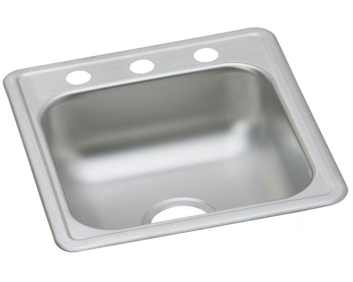 """Elkay D11721 Dayton Stainless Steel 17"""" x 21-1/4"""" x 6-1/2"""", Single Bowl Drop-in Bar Sink"""