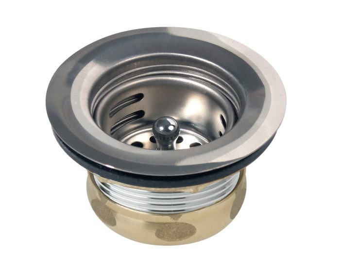 """Elkay D5018A Dayton 2"""" Stainless Steel Drain with Removable Basket Strainer and Rubber Stopper"""
