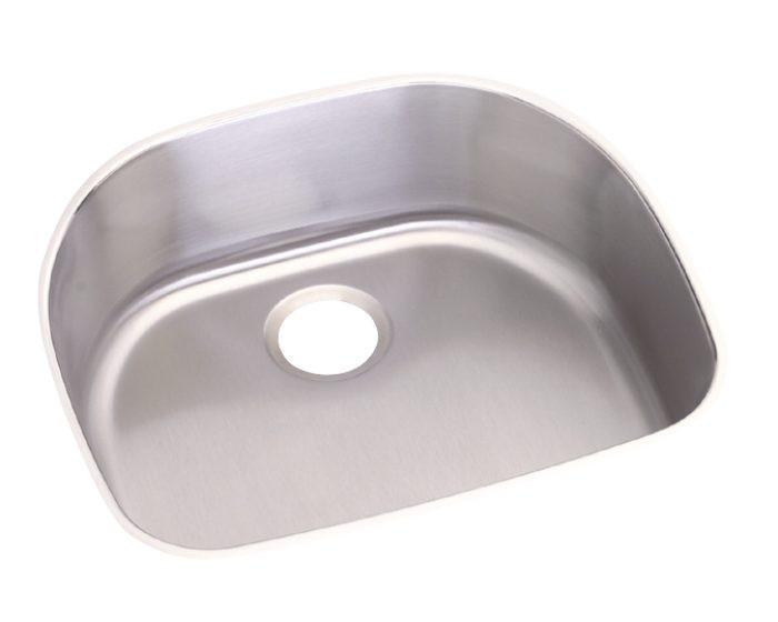 "Elkay DCFU2118 Dayton Stainless Steel 23-1/2"" x 21-1/8"" x 8"", Single Bowl Undermount Sink"