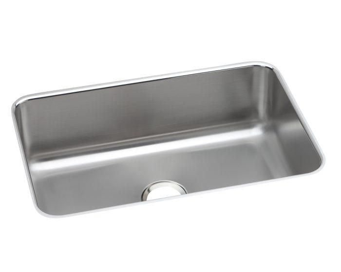 "Elkay DCFU2416 Dayton Stainless Steel 26-1/2"" x 18-1/2"" x 8"", Single Bowl Undermount Sink"