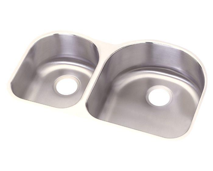"Elkay DCFU3119L Dayton Stainless Steel 31-1/4"" x 20"" x 8"", Offset 40/60 Double Bowl Undermount Sink"
