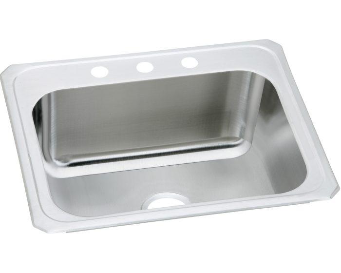 "Elkay DCR252212 Pursuit Stainless Steel 25"" x 22"" x 12-1/4"", Single Bowl Drop-in Sink"