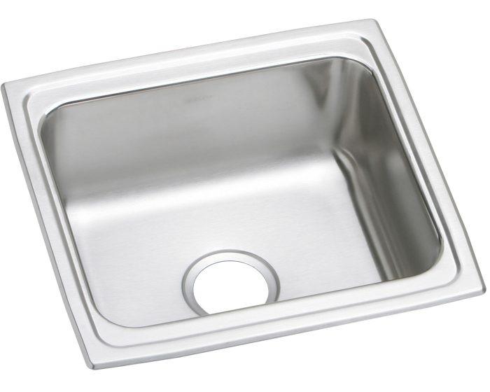 "Elkay DLFR191810 Lustertone Classic Stainless Steel 19"" x 18"" x 10-1/8"", Single Bowl Drop-in Bar Sink"