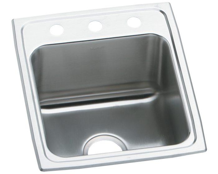 """Elkay DLR172010 Lustertone Stainless Steel 17"""" x 20"""" x 10-1/8"""", Single Bowl Drop-in Sink"""
