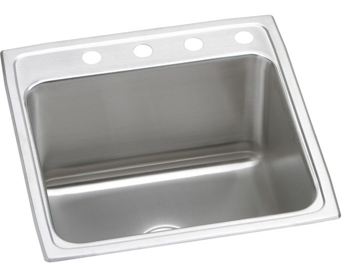 """Elkay DLR222212 Lustertone Stainless Steel 22"""" x 22"""" x 12-1/8"""", Single Bowl Drop-in Sink"""