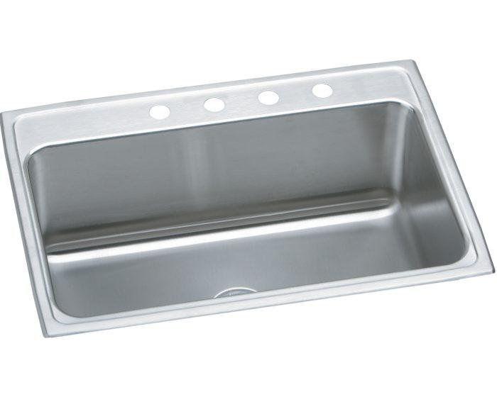 """Elkay DLR312212 Lustertone Stainless Steel 31"""" x 22"""" x 11-5/8"""", Single Bowl Drop-in Sink"""