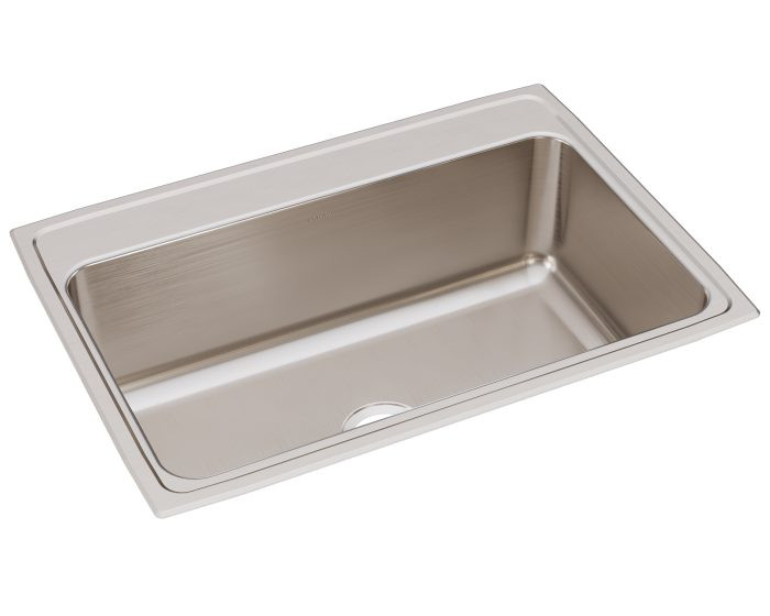 """Elkay DLRQ312210 Lustertone Stainless Steel 31"""" x 22"""" x 10-1/8"""", Single Bowl Drop-in Sink with Quick-clip"""