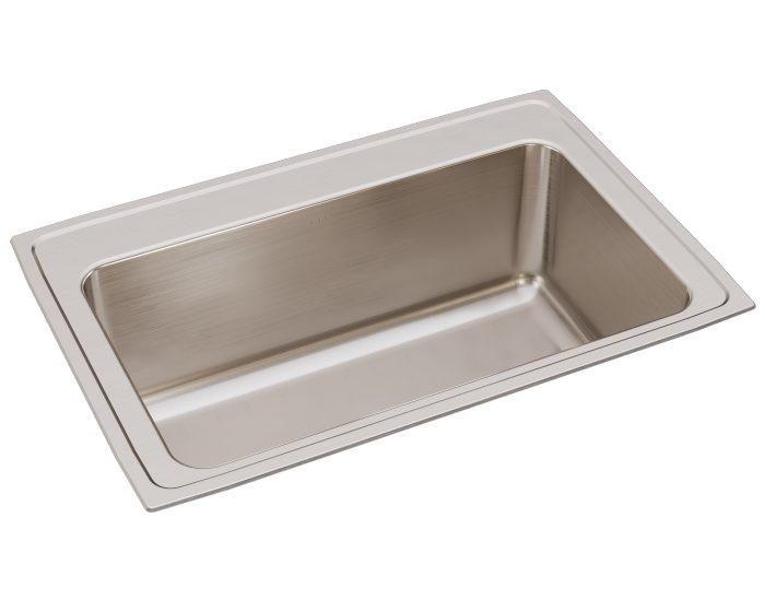 "Elkay DLRS332212 Lustertone Stainless Steel 33"" x 22"" x 11-5/8"", Single Bowl Drop-in Sink"