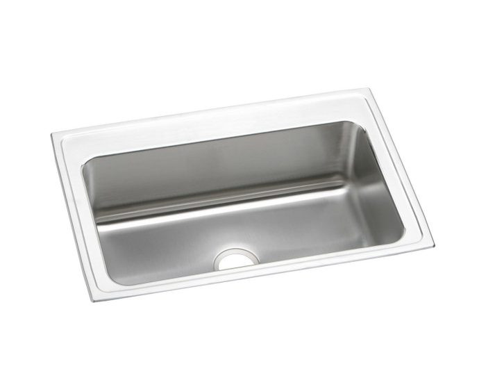 """Elkay DLRSQ332210 Lustertone Stainless Steel 33"""" x 22"""" x 10-1/8"""", Single Bowl Drop-in Sink with Quick-clip"""