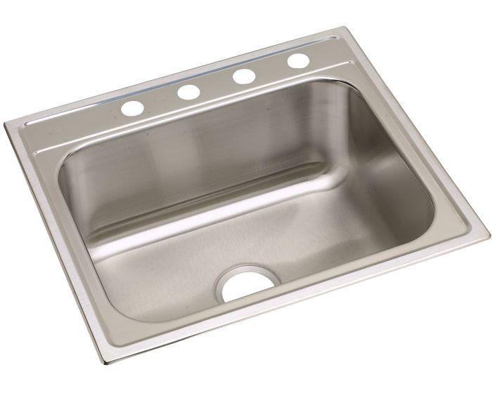 """Elkay DPC1252210 Dayton Stainless Steel 25"""" x 22"""" x 10-1/4"""", Single Bowl Drop-in Sink"""