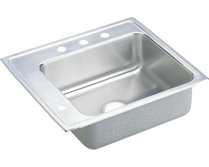"Elkay DRKAD222040L Lustertone Stainless Steel 22"" x 19-1/2"" x 4"", Single Bowl Drop-in Classroom ADA Sink"