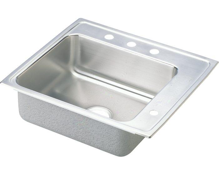 "Elkay DRKAD222040R Lustertone Stainless Steel 22"" x 19-1/2"" x 4"", Single Bowl Drop-in Classroom ADA Sink"