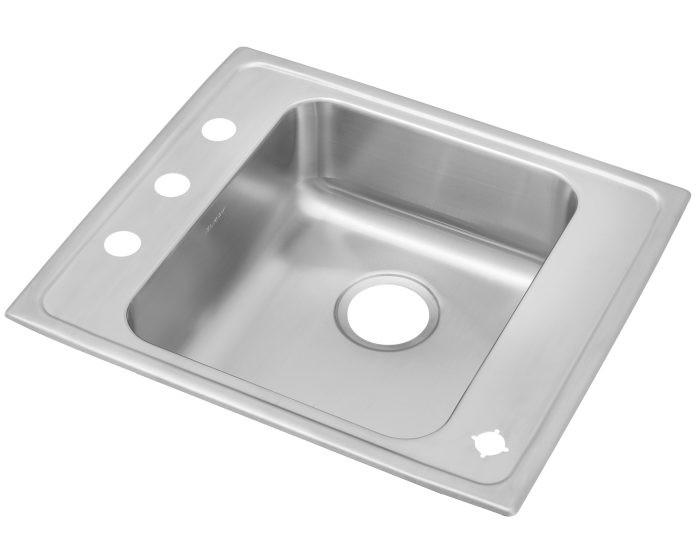 "Elkay DRKAD222045 Lustertone Stainless Steel 22"" x 19-1/2"" x 4-1/2"", Single Bowl Drop-in Classroom ADA Sink"
