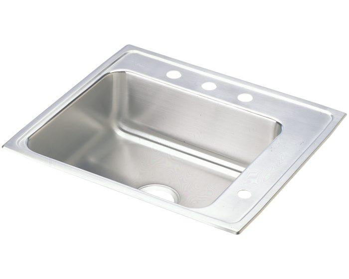 "Elkay DRKAD222045R Lustertone Stainless Steel 22"" x 19-1/2"" x 4-1/2"", Single Bowl Drop-in Classroom ADA Sink"