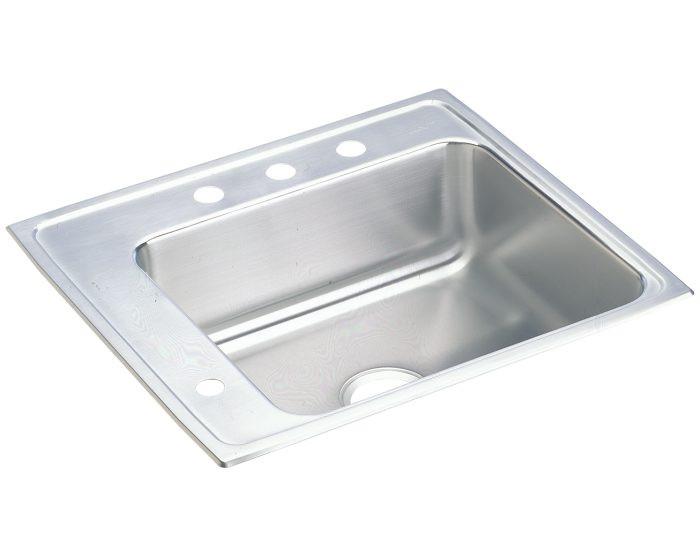 "Elkay DRKAD222050L Lustertone Stainless Steel 22"" x 19-1/2"" x 5"", Single Bowl Drop-in Classroom ADA Sink"