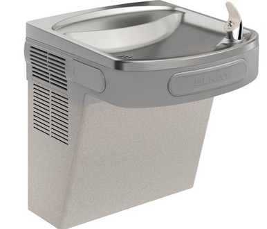 Elkay EZS8L Refrigerated Drinking Fountain, 8.0 GPH Water Cooler, ADA, Pushbar Controls on Front and