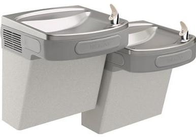 Elkay EZSTL8LC Refrigerated Drinking Fountain, Versatile Wall Mount Bi-Level, 8.0 GPH Water Cooler,