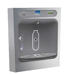 Elkay EZS8L Refrigerated Drinking Fountain, 8.0 GPH Water Cooler, ADA, Pushbar Controls on Front and Sides, Light Gray Granite
