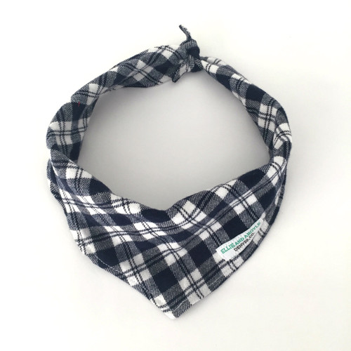 Blue & White Checkers Dog Bandana