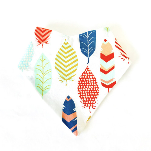 Mod Feather Baby Bib Bandana