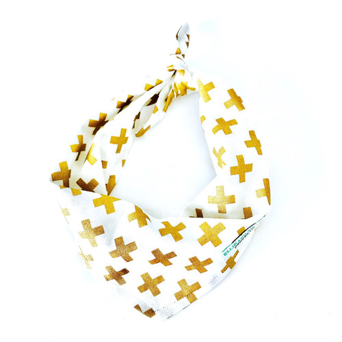 Gold X Dog Bandana