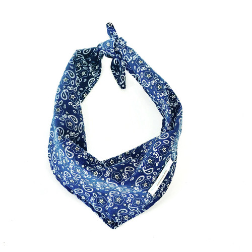 Blue Western Dog Bandana