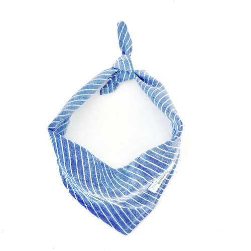 Blue Stripes Dog Bandana