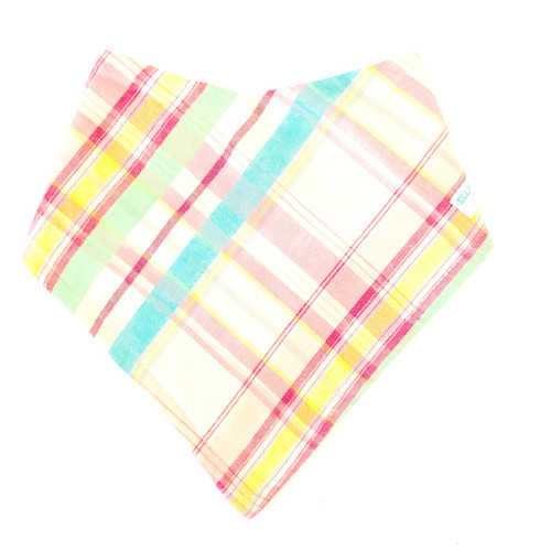 Hill Top Plaid Baby Bib Bandana