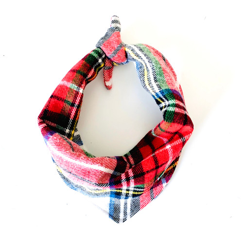 Copenhagen Plaid Dog Bandana