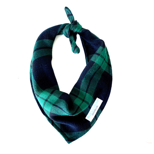 Majorca Plaid Dog Bandana