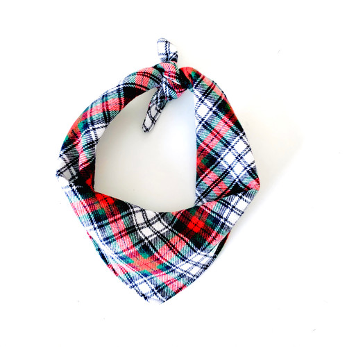 Pawleys Plaid Dog Bandana