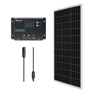Renogy 100 Watts 12 Volts Solar Bundle Kits with Wanderer 10 Amp Charge Controller (pre-order)