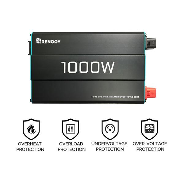 Renogy 1000W 12V Pure Sine Wave Inverter (pre-order)